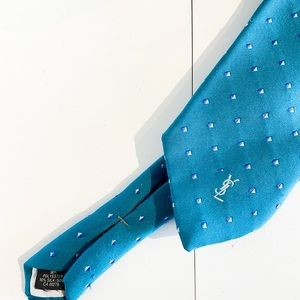 YSL Vintage Teal Men's Necktie